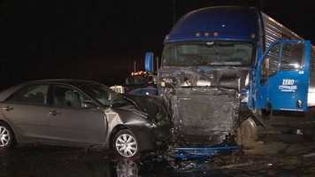 One person was killed on Interstate 5 in a wrong-way crash.