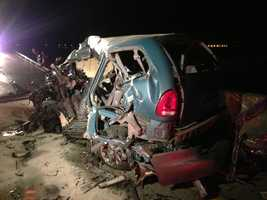 Southbound lanes on Interstate 5 in San Joaquin County were shut down early Friday morning following a deadly crash.