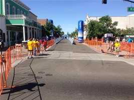 A look at historic downtown Folsom before Stage 2 of the Amgen Tour of California. (May 12, 2014)