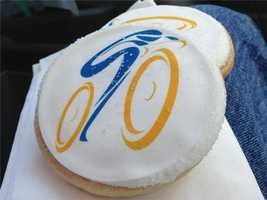 Hungry? Amgen Tour cookies for sale in Folsom during Stage 2. (May 12, 2014)