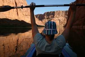 19.) My wife and I are kayakers. We have a kayak that we've taken all over the west, including the San Juan Islands, British Columbia and the Colorado River. This picture is near Horseshoe Bend, Arizona.