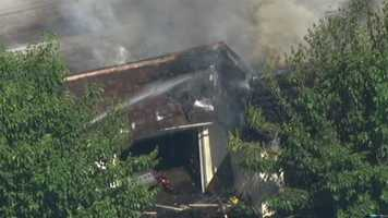 Firefighters battled a two-alarm fire at a condo complex in Galt on Friday.