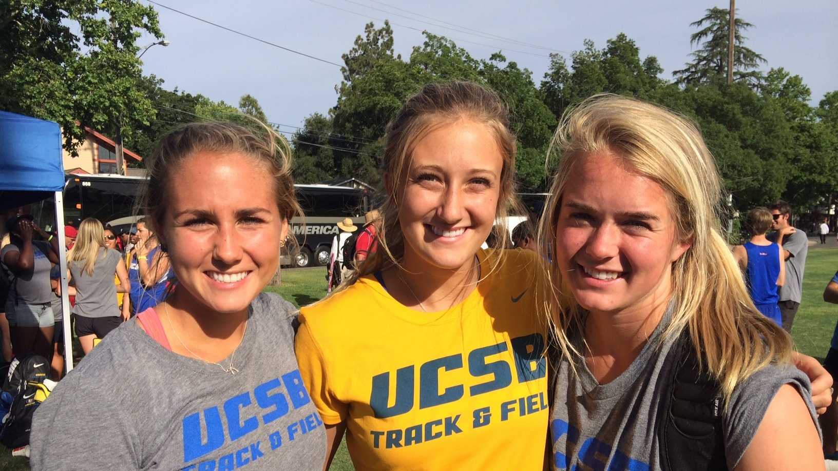 Local standouts Maxine Goyette, Jessica Emde, and Shannon Trumbull, all Oak Ridge High School graduates, now compete for the University of California, Santa Barbara. All three made their way to Big West Conference championships. Emde placed 3rd in the conference in high jump, Goyette placed 2nd in the conference in steeplechase, and Trumbull competed in the 100m hurdles. The three former and current teammates are all sophomores.