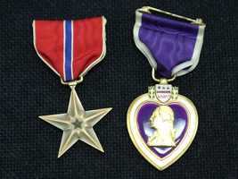 This Bronze Star and Purple Heart are among the unclaimed property being held by the California State Controller's Office. Read more about how to claim unclaimed property: http://www.sco.ca.gov/upd_contact.html
