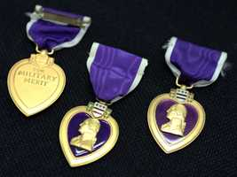 These three Purple Hearts are among the unclaimed property being held by the California State Controller's Office. Read more about how to claim unclaimed property: http://www.sco.ca.gov/upd_contact.html