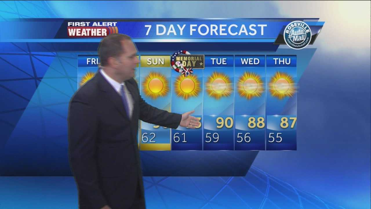 KCRA's Dirk Verdoorn has your Memorial Day weekend forecast.