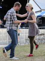 Dabney and Karen Hopkins of Mesa, Ariz., dance at the Sacramento Music Festival and Jubilee on May 23.