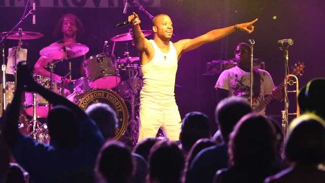 "Troy ""Trombone Shorty"" Andrews performs at the Sacramento Music Festival and Jubilee on May 23."