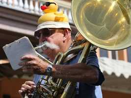 A member of Ophir Prison Marching Band takes part in the Sacramento Music member of Ophir Prison Marching Band takes part in the Sacramento Music Festival and Jubilee parade on May 24.