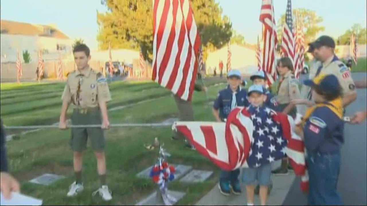 KCRA 3's Brian Hickey talks to local Boy Scouts who are honoring those who have fallen in battle while serving their country.