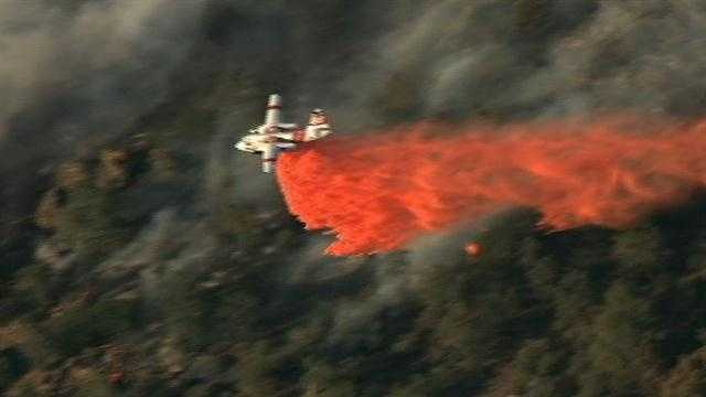 Raw video: LiveCopter flies over Hunters Fire