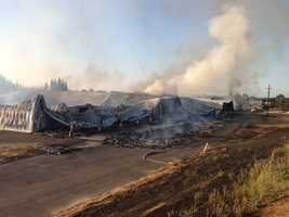 A large fire destroyed several buildings at ShoEi Foods in Olivehurst (June 2014).