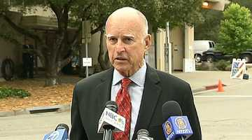 """""""I have learned a lot,"""" Brown said, """"and I hope if the people give me another four years that I can deserve their confidence and trust and lead California in so many different ways."""""""