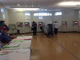 Lines were short at polling places across the state for Tuesday's primary election.