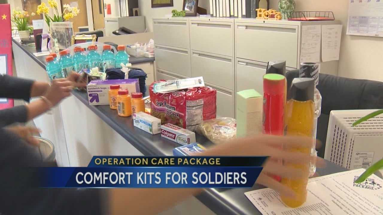 Schools and individuals are helping to make a difference for those soldiers serving overseas by donating items to Operation Care Package.