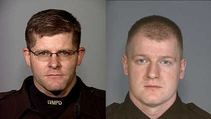 From left: Officer Alyn Beck and Officer Igor Soldo