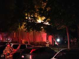 Several residents were taken to the hospital early Tuesday morning after being rescued from a fire at an apartment complex in Citrus Heights.