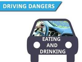Eating and drivingThis everyday activity makes you 3.6 times more likely to be involved in a crash.
