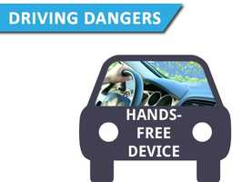 Using a hands-free deviceThis everyday activity makes you 4.6 times more likely to be involved in a crash.