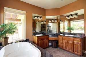 Here's a peek inside the master bathroom.