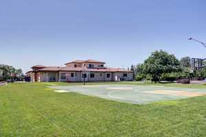 Of course! What kind of home would this be without a full basketball court?
