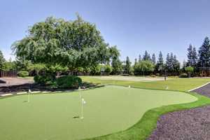 There's also a golf chipping and putting green.
