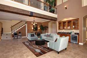 Here's a look into the spacious living room.