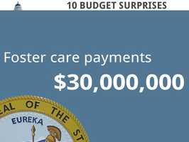 Foster care payments would see a $30 million increase.