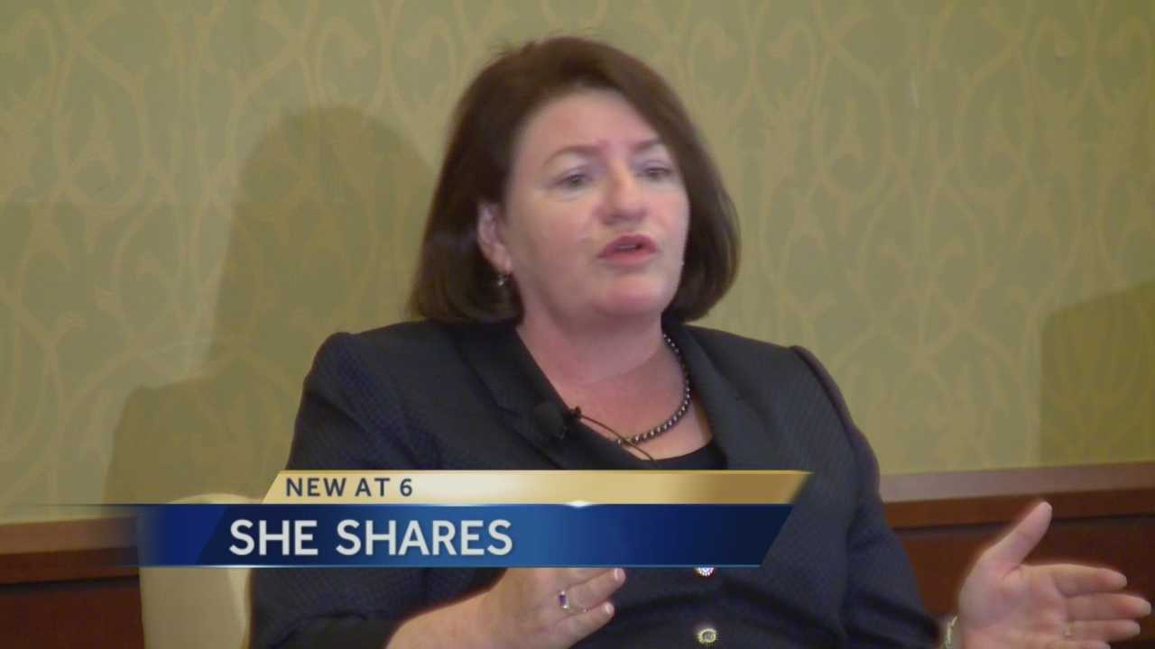 Assembly Speaker Toni Atkins spoke to a Women's leadership conference Tuesday in Sacramento.