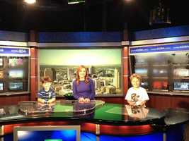 18.) Bring your child to work day was Thursday -- did you, or would you, take your kids to your place of employment? Here's Deirdre with her two sons, or co-anchors :) So cute! #kcra #newsroom #sacramento #behindthescenes #channel3
