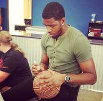 21.)We're talking to #SacramentoKings star Jason Thompson, @jtthekid, tonight on #KQCAat10 and #KCRAat11. He signed autographs today in Rocklin and spread the word about his JT Elite Basketball Camps. You can find the sign-up link in our As Seen On section on #kcra.com. #foreverpurple #kingsallday #sackings @sacramentokings @courtsidebasketballcenter #rocklin #nba #summercamp #regram from @alancamman