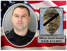A funeral service was held Thursday morning for Stockton police Officer Scott Hewell,  who died after succumbing to injuries suffered in a crash while on-duty.