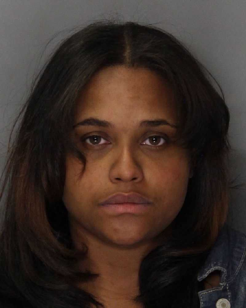 Angel Cleveland, 22, was arrested after her 1-year-old child was found wandering alone in a South Sacramento neighborhood, according to police.