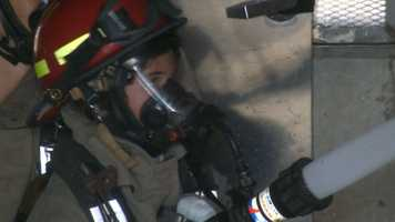 Isabelle Ford gets a taste of what her dad does for a living as a Roseville Firefighter.
