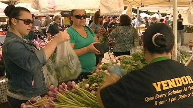 12. Buying healthy, and local, food at one of the region's farmers markets.