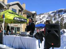 6.) I spent two summers announcing professional beach volleyball. Having found my calling, I switched college majors from physics to journalism. I spent eight winters visiting the nation's best resorts announcing ski events for Subaru of America.