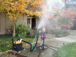 13.) It's no secret, I love snow. I built my own snow maker in high school using compressed air and parts in my dad's racing garage. Last year, my daughter and I made it snow in Granite Bay using a Shop-Vac and garden sprayer.