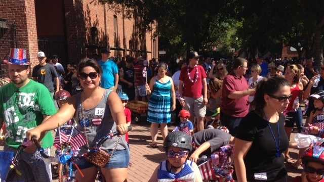 Children and adults showed up to roll down Main Street for the City of Woodland's annual 4th of July Bike Parade and Celebration.