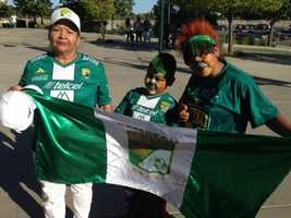 Plenty of fans showed up at Raley Field in West Sacramento for a friendly match between Club Leon FC and Club America as several members of Mexico's 2014 World Cup team took to the pitch.