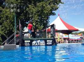 The Splash Dogs take their jumps at the California State Fair.