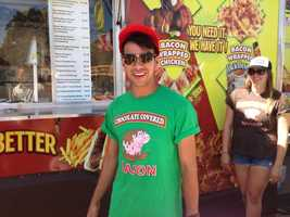 Everything bacon at the California State Fair. (July 11, 2014)