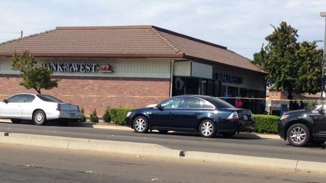 The robbery happened at the Bank of the West on Thornton Road in Stockton. (July 16, 2014)