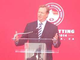 NFL Commissioner Roger Goodell said that Levi's Stadium is the first stadium built in California since the 1960s.
