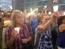 A vigil held in Stockton on Saturday memorialized slain mother of two Misty Holt-Singh, who was killed Wednesday in a bank robbery-turned-violent crime spree. Hundreds attended (July 19, 2014).