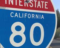 25. There are five major highways that all converge in Sacramento -- Interstate 80, Highway 50, Interstate 5, Highway 99 and Business 80 (also known as the Capital City Freeway).
