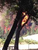 Borjon Winery tweeted photos of the fire burning in Amador and El Dorado counties. (July 25, 2014)