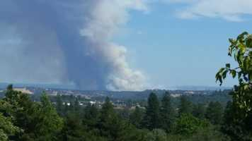The Sand Fire forced new evacuations as it continued to burn near the Amador-El Dorado county line on Saturday. (July, 26, 2014)