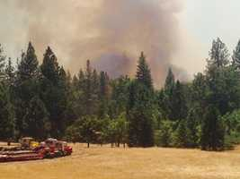The Sand Fire expanded to 3,800 acres on Saturday, according to Cal Fire officials. (July 27, 2014)