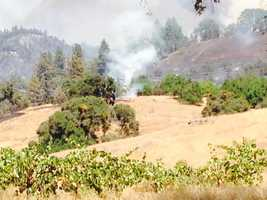 The Sand Fire burns in Amador County. (July 27, 2014)
