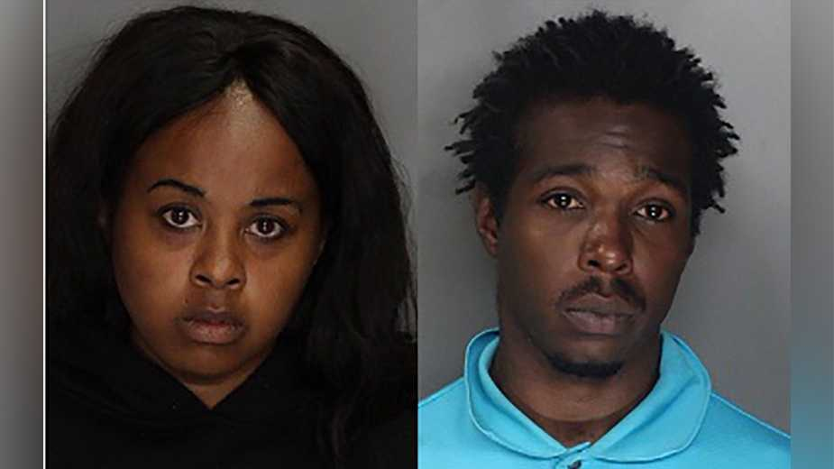 Ashleigh Smith, 27, and Terry Scott, 19, have been arrested in connection to the death of their son.